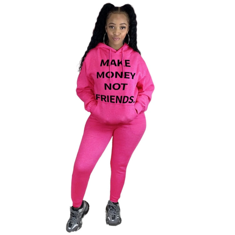 MAKE MORE MONEY NOT FRIENDS s Two Piece Tracksuit