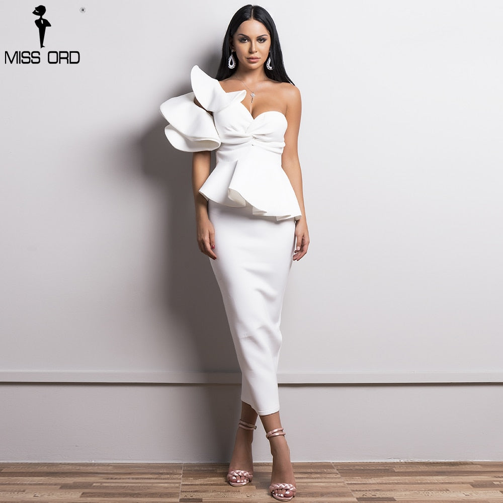 Women Sexy Bodycon  Off Shoulder Bandage Dresses