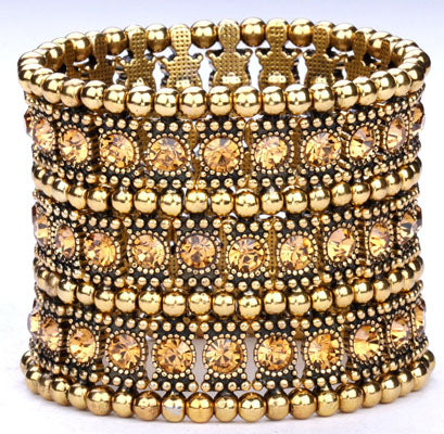 Multilayer stretch cuff bracelet