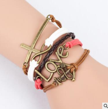 Pink Multilayer Braided Bracelets