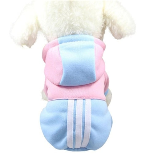 Small Mix Color Pet Puppy Clothes Hoodie winter