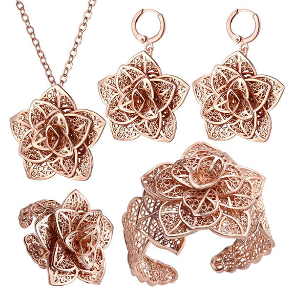 Vintage Big Flower Jewelry Sets