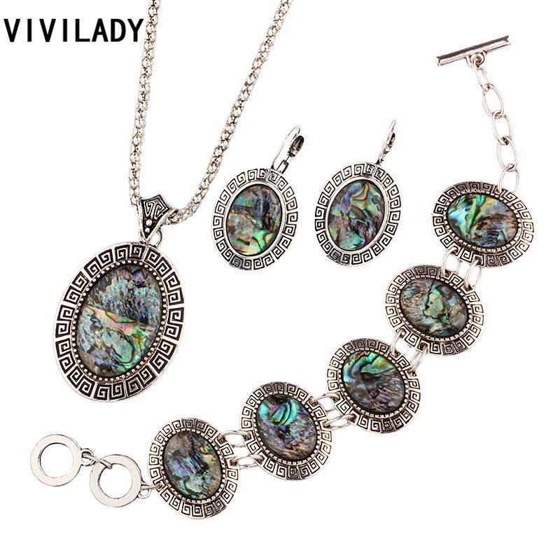 Fashion Natural Abalone Shell Jewelry Sets