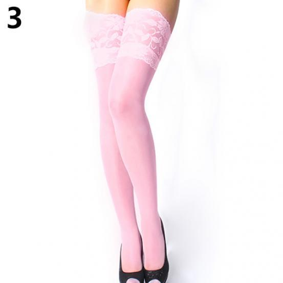 Women's Sexy Floral Thigh High Stockings