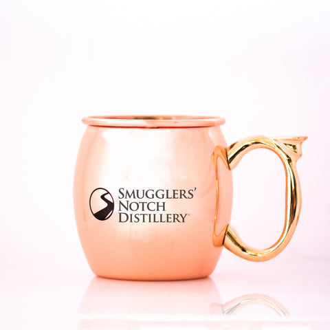 A classic copper mule mug, complete with vintage SND logo | Smugglers' Notch Distillery Online Store