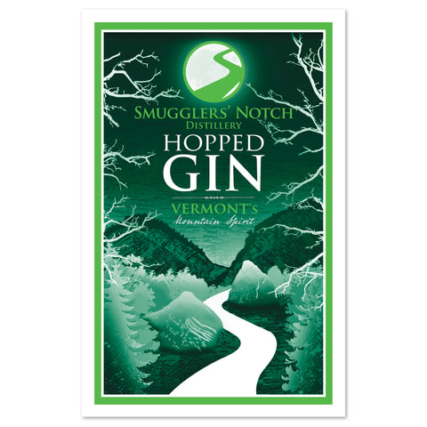 Smugglers' Notch Distillery Hopped Gin Poster