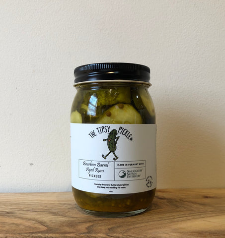 Tipsy Pickles Bourbon Barrel Aged Rum Pickles