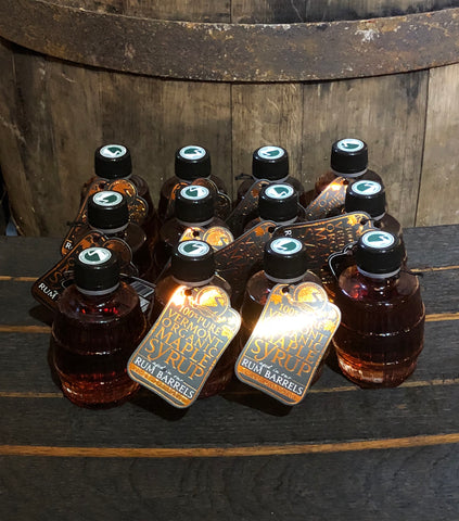 Rum-Barrel Aged Maple Syrup 12-Pack of 100mL Bottles