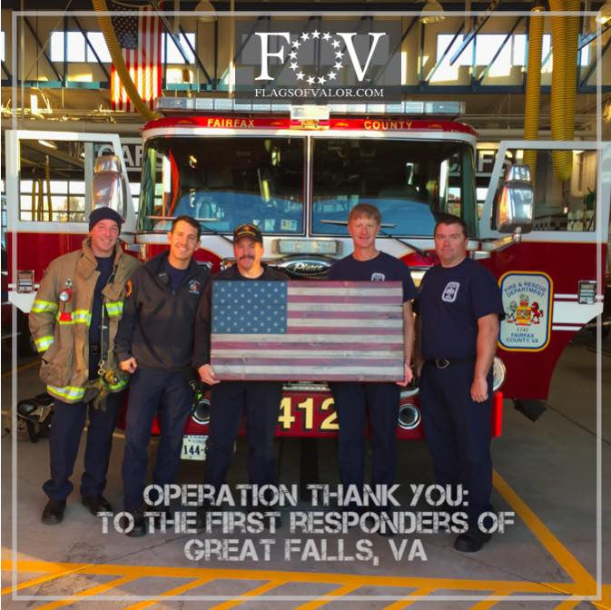 Great Falls FD - Flags of Valor - First Responders Recognition