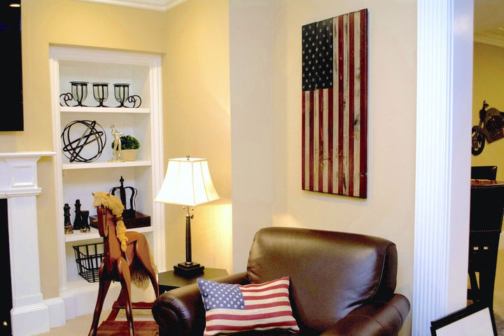 Vertical American Flag - Perfect art for narrow walls