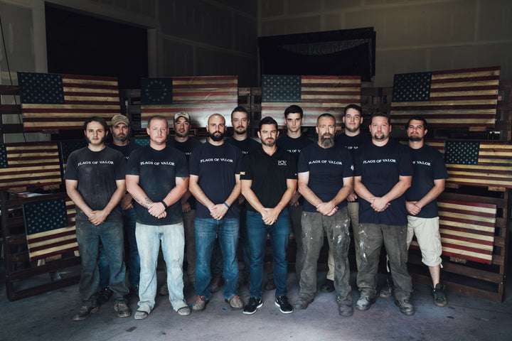 Growing team of veterans hired at Flags of Valor at second location for American Made wood flags