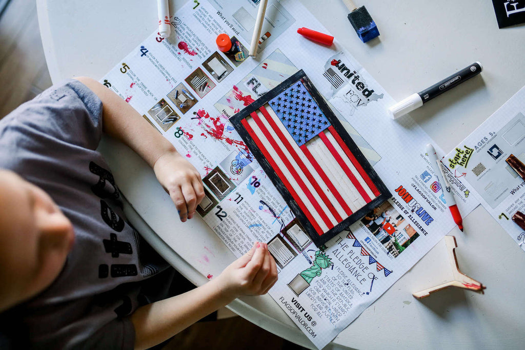 Flags of valor kids American Flag build kit instructions