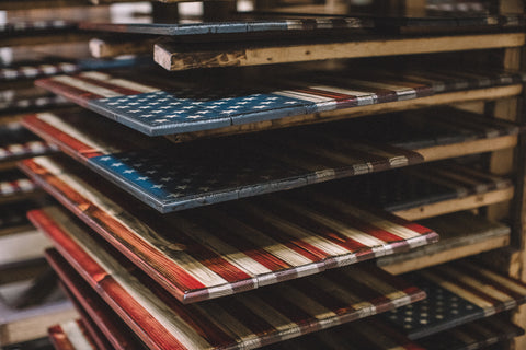 Gallery Of Wooden American Flags Made By Combat Vets