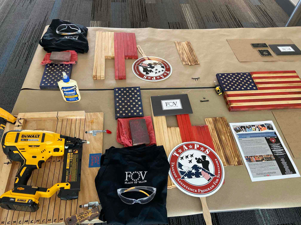 TAPS Flag Build Nashville TN - Flags of Valor