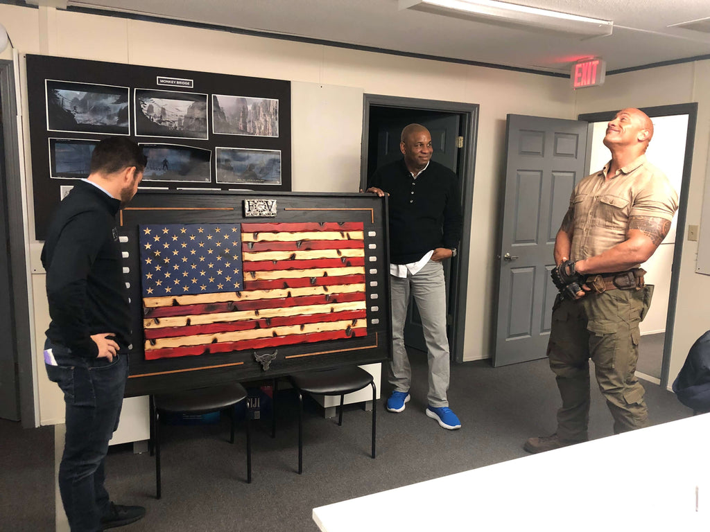"Flags of Valor giving Dwayne ""The Rock"" Johnson the finished product"