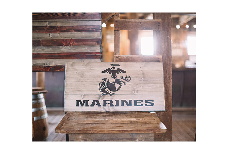 Subdued USMC Wooden Flag - handmade by Combat Veterans at Flags of Valor