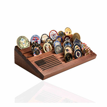 Wooden Desktop Coin Holder