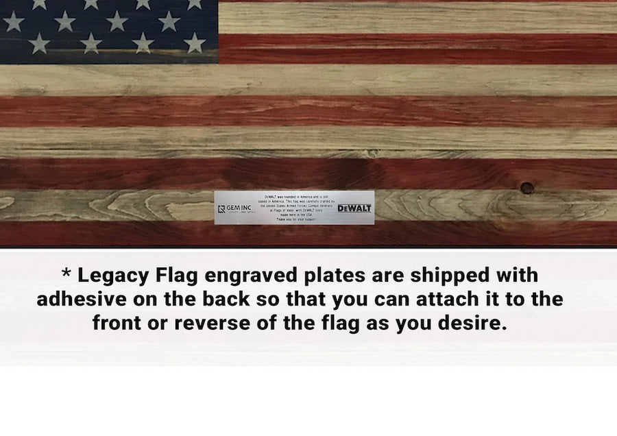 Legacy Series - Wooden American Flag
