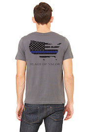 Thin Blue Line - American Flag Shirt - Front in Reverse