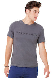 Flags of Valor - Gray Men's FOV Shirt - Made in the USA - Gift Ideas