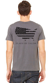 Flags of Valor - Gray Men's FOV Shirt - Made in the USA