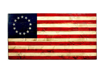 4576c5e46643 Combat Veteran Crafted Wooden Flags