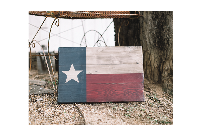 Wooden Texas State Flag - Handcrafted by Combat Veterans at Flags of Valor