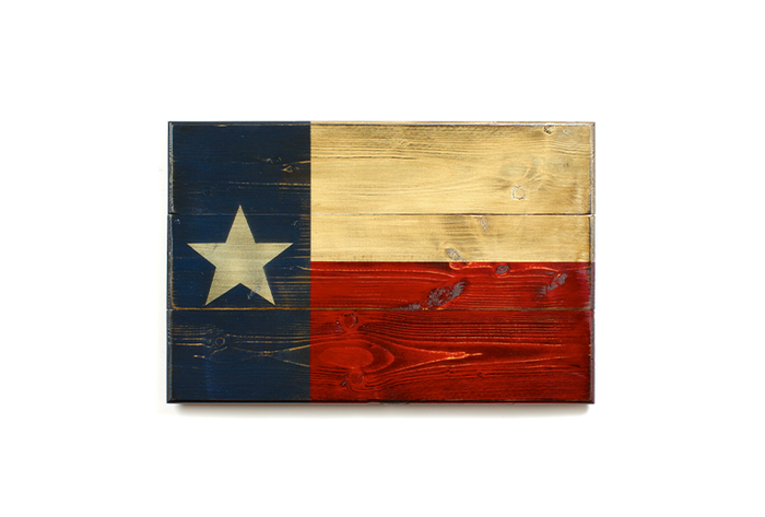 The State of Texas Wooden Flag