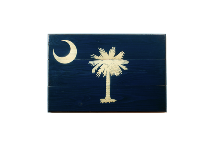 The State of South Carolina Wooden Flag