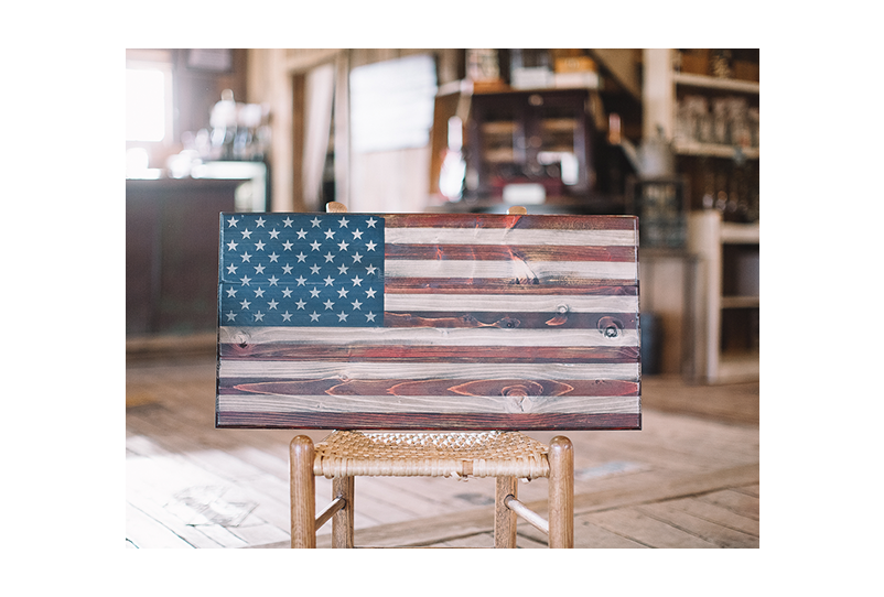 Phantom Fury (S) Wooden American Flag