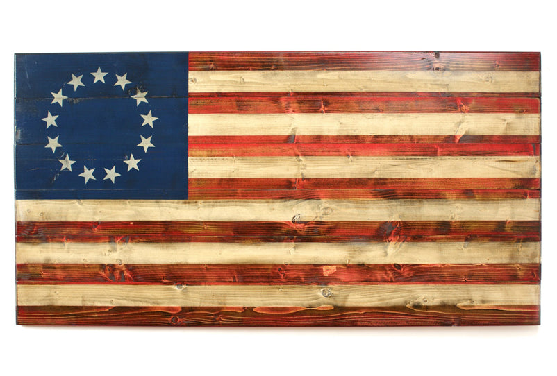 Omaha Beach (XL) Wooden American Flag