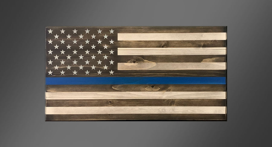 Personalized Old Glory - Thin Blue Line
