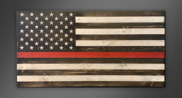 Personalized Old Glory - Thin Red Line