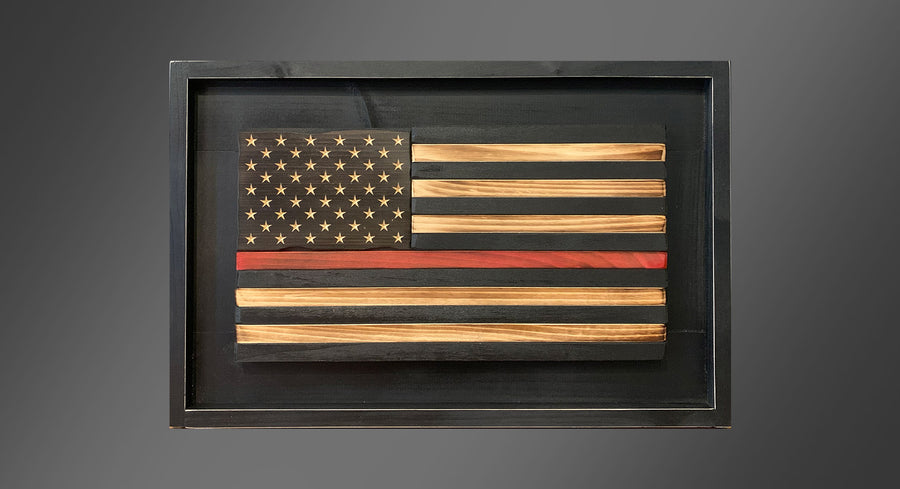 Personalized Homefront - Thin Red Line - Framed