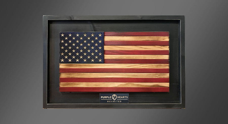 Personalized Homefront - Old Glory Flag - Framed