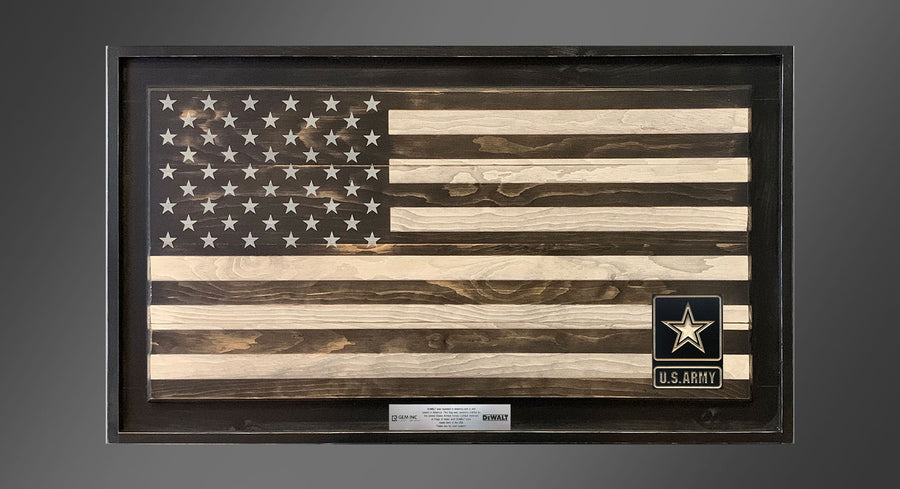 Personalized Old Glory - Subdued - Framed