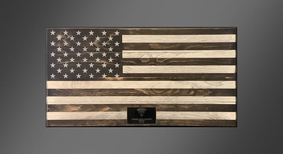Personalized Old Glory - Subdued