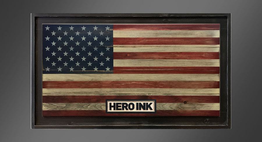 Personalized Old Glory - Framed