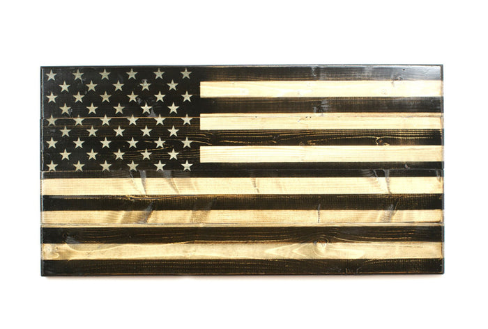 The Front Line Wooden Flag - Handcrafted by Combat Veterans of Flags of Valor - Made in America
