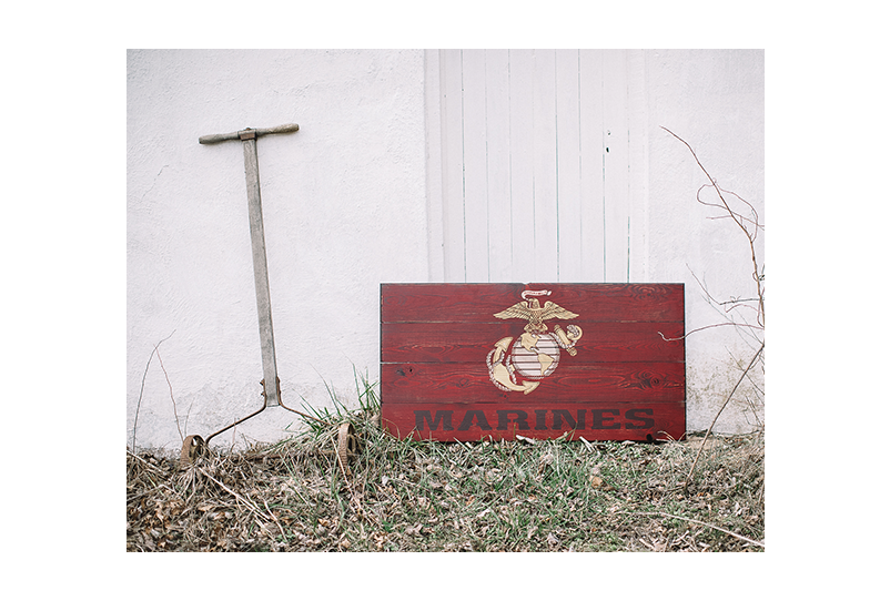 USMC Wood Flag - Combat Veteran made flag - Made in USA