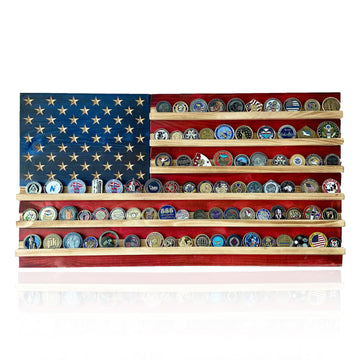 Challenge Coin Holder Flag