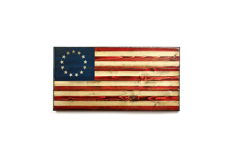 Doolittle (S) Wooden American Flag