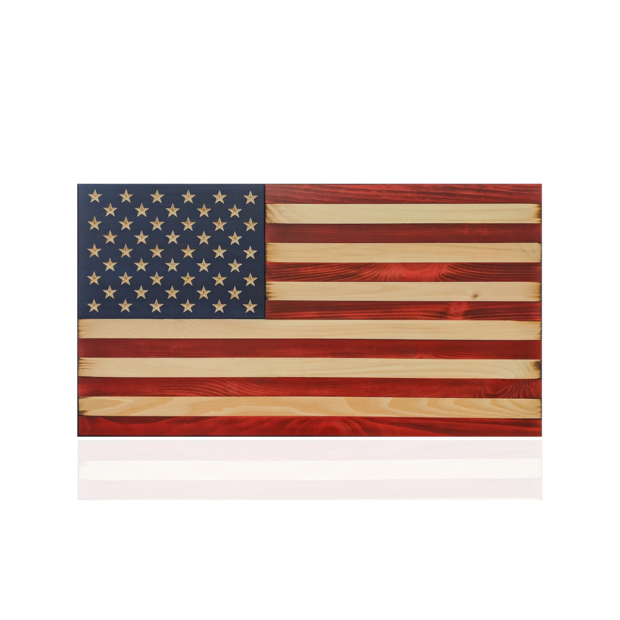 Wooden American Flag made by veterans