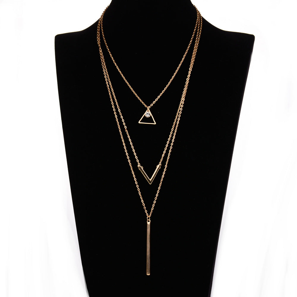Hella - Bar and Arrow Gold Layered Necklace