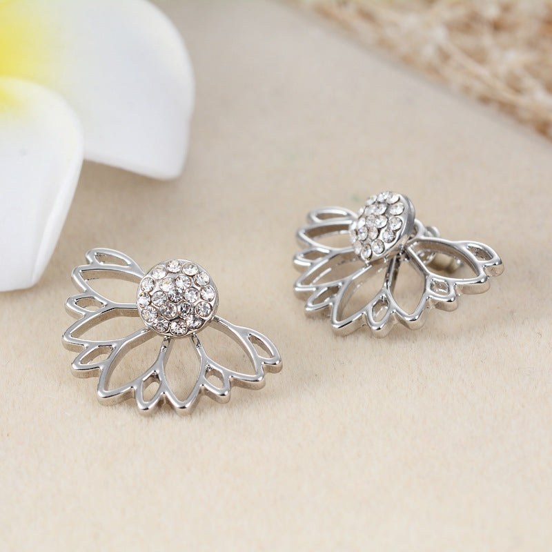 Gewa - Silver Flower Power Hug Earrings