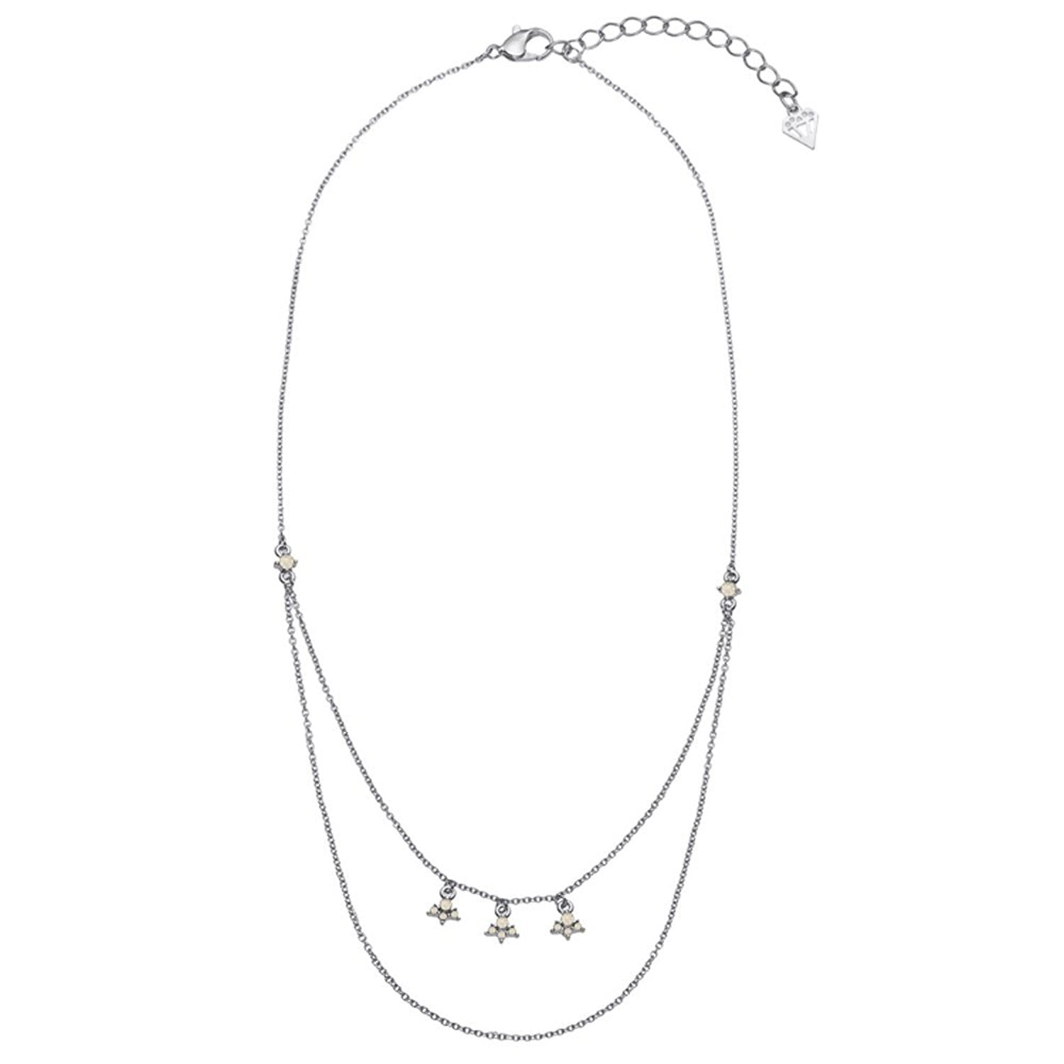 Drip Drop 2 Row Dainty Layered Necklace