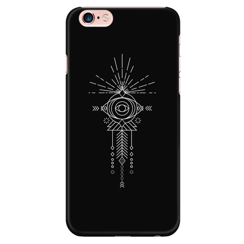 Evil Eye sunshine tribal graphic iPhone case