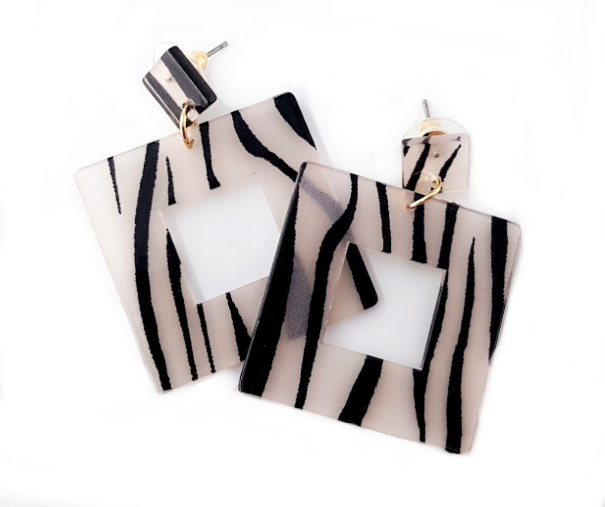 Gan - Geometric/Statement Zebra Danglers