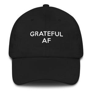 Grateful AF baseball dad cap hat