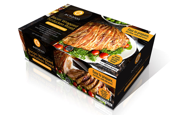 Bacon Wrapped Turducken Premium Roast - 6.6 lb